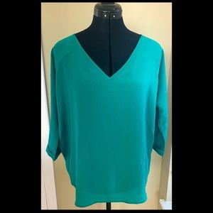 Express v-neck blouse with plunging back